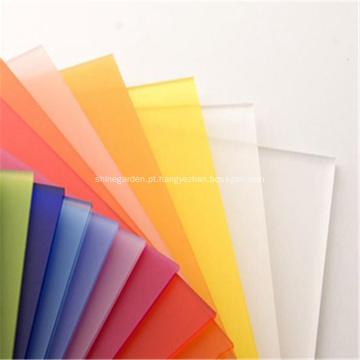 Folha de plástico opalino acrílico branco fosco PMMA