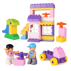 City/Girls/Flower Shop Plastic Building Blocks Toys