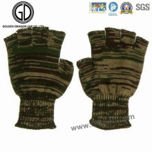 Camo Warm Guante sin dedos / Acrylic Knitted Jacquard Winter Guante