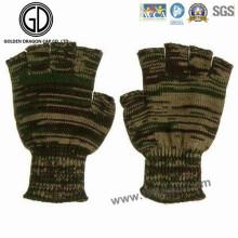 Camo Warm Fingerless Glove/Acrylic Knitted Jacquard Winter Glove