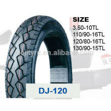 china deji motorcycle tires/tyre and tube price 130/90-15 120/80-16 110/90-16TL