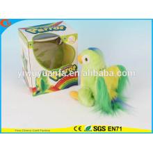 Hot Sell Kids 'Toy Beautiful Walking Electric Skip Plush Green Parrot