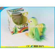 Hot Sell Kids' Toy Beautiful Walking Electric Skip Plush Green Parrot