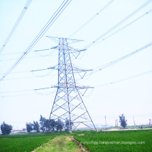 220kv Doubule Circuits Angle Steel Power Transmission Tower