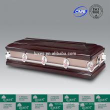 LUXES vente populaire American Hardwood cercueil avec cercueil prix