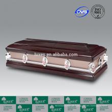 Caixão de madeira LUXES venda Popular americana com preços de caixão