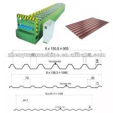 Máquina de folha de perfil de aço padrão Euro Standard