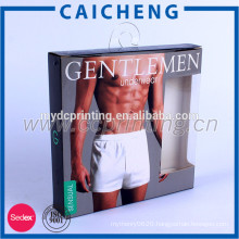 Men underwear packaging paper box with hanger