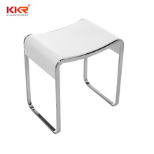 Amazon hot seller stool bathroom shower seat for sauna room foot stool for living room solid surface water proof shower chair