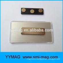 Plastic magnet name plates, reusable magnetic plastic nameplates magnetic logo badge