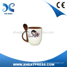 low price Small Order Ceramic Mug with Spoon,Coffee Mug with Spoon for wholesale