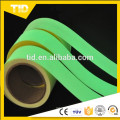 Glow tape for safety guide, green luminescent film