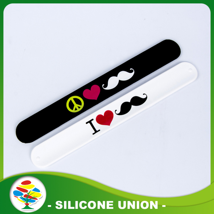 Hot Selling Print Silicone Slap Bracelet