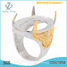 2015 superior venda de noivado fantasia indinesia anéis para homens com aço inoxidável preço de atacado