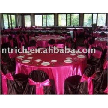 tissu de satin table haut de gamme 120inches 2015 vente chaude pour banquet de mariage