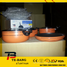 7pcs cast aluminium stock pots for wholesale