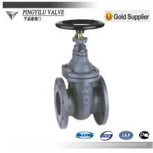 DIN standard PN10 PN16 non rising stem soft sealing cast iron gate valves