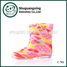 bottes de pluie Chaussures enfants pluie pvc, bottes de pluie colorée pour les enfants