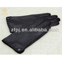 Bouton de mode masculin décoré de gants en cuir PU en hiver