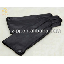 men fashion button decorated PU leather gloves in winter