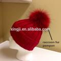 Véritable fourrure de raton laveur Bobble pour chapeau