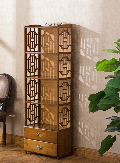 Chinese Style Floorstanding Book Display Shelf