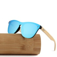 Bamboo Sunglasses أنوثة جسر معدني