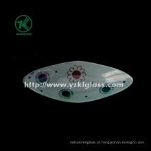 Única parede cor placa de vidro por SGS (klp130402-39)