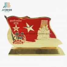 Le meilleur trophée en métal militaire d'émail de bâti d'alliage de vente pour le souvenir