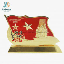 Best Selling Alloy Casting Enamel Military Metal Trophy for Souvenir