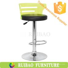 2016 Hot Sales Acrílico Bar Contador barato transparente colorido acrílico silla giratoria