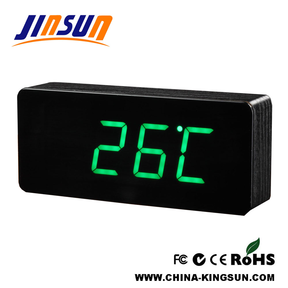 Superficie de acrílico Led Reloj de alarma Despaly Square