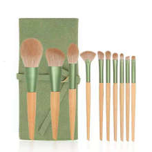 Beauty Products Customized Design 10pcs High Quality Wholesale Private Label Luxury Green Brushes Vendor Makeup Brushes
