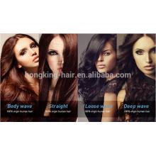 Alibaba venta al por mayor punta plana extensión del pelo 100% pelo virginal del pelo brasileño mejor precio