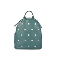 Повседневный довольно элегантный цветочный вышитый кожаный рюкзак