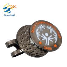 Kundenspezifisches Logo gedrucktes kundengebundenes Magnet-Golfball-Markierungs-Kappen-Klipp