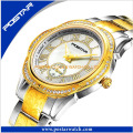 Fabrik-kundenspezifisches Firmenzeichen alle Edelstahl-Art- und Weisedame Watch
