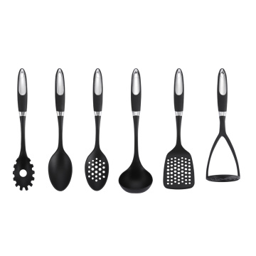 6Pcs Coating Handle Nylon Kitchen Utensils Set