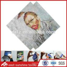 Hochwertiges 4c Druckschmucksache-Gläser Objektiv microfiber Reinigungstuch