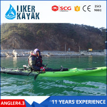 LLDPE/HDPE Single Cheap Fishing Kayaks 4.3m Length