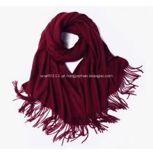 Lenço de lã de cashmere 100% feminino