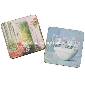 Promotional Home Decoration Square Cork Coaster, Custom Wood Coaster, MDF Coaster