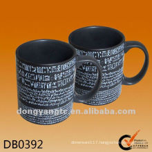 customized printed black matt writable ceramic mug for promotion