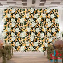Artificial silk flower wall for wedding wall