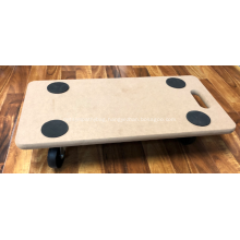 Garden Wooden Moving Wheels Trolley