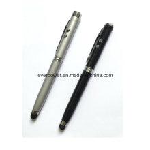 4 в 1 Шариковая светодиодная лазерная ручка для сенсорного экрана устройства iPhone iPad (FK-3027)