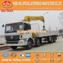 foton 8x4 16 tons XCMG crane truck with crane 270hp
