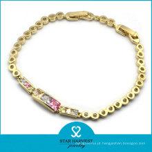 Banhado a ouro whosale moda jóias pulseira