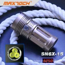 Maxtoch SN6X-15 3 * crie T6 3250 Lumen plus brillants Swat torche