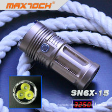 Maxtoch SN6X-15 3 * Cree T6 3250 lúmen mais brilhante Swat tocha
